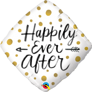 Happily Ever After Gold Dots Foil Balloon | Free Delivery